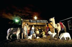 light up nativity sets for outdoors outdoor nativity set best of outdoor plastic light up nativity