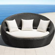 china garden rattan round wicker daybed