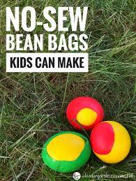 no sew diy bean bags kids can make