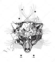 пиктограмма животных головы треугольный значок животных медведь