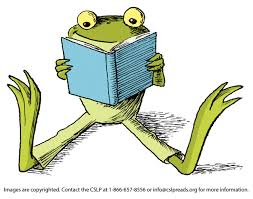 Image result for Frog reading