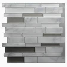 l and stick vinyl wall tiles expert white grey marble mosaic l and stick wall tile self adhesive