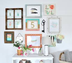how to create a gallery wall collage with frames