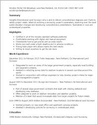Resume Templates: International Land Surveyor