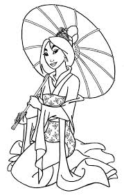 Small Picture Mulan coloring pages holding umbrella ColoringStar