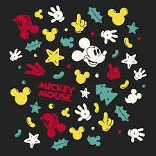 Mickey Mouse Pattern | Vector Graphics