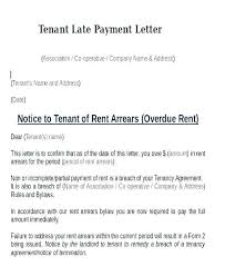 Late Notice For Rent Letter 7 Day Letter Template Rent Arrears Sample Qld Scotland