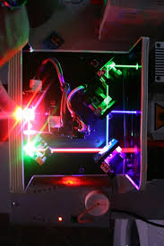 much like a tv or conventional projector works see below image green blue and red combined to make white