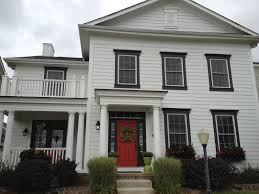 House With Black Trim White House With Black Door And Black Trim Description From