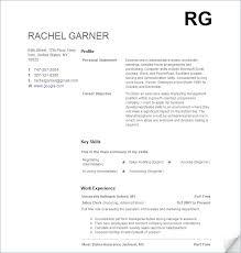 Resume Builder No Work Experience #973
