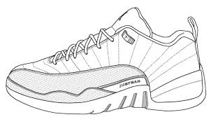 jordan shoes to color and print