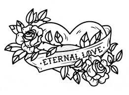 Vektorová Grafika Srdce Propletené V Lezení Růže Tetování Srdce
