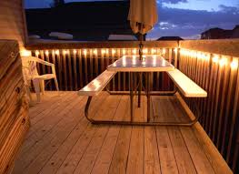 outdoor deck lighting. Simple String Lighting Idea For Outdoor Deck Patio
