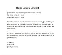 30 day notice to move out letter 30 day notice template