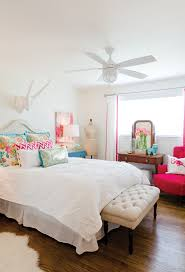 Colorful Bedroom Wall Designs White Bedroom With Pops Of Color Bed Bath Pinterest The