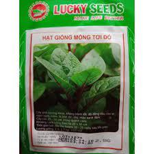 Giá bán COMBO 2 gói hạt giống mồng tơi đỏ TẶNG 1 phân bón