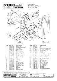 1250cx parts for model trolley jack