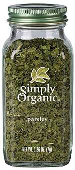 Simply Organic Parsley Flakes <b>Cut &</b> Sifted <b>Certified Organic</b>, 0.26 ...