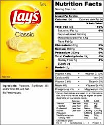 lindsay is a lifetime member let s talk about fat with regard to potato chips food label