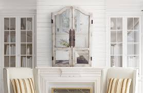 decorative interior wall shutters weathered distressed rustic white wood wooden en wire images