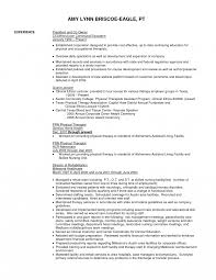 Occupational Therapy Resume Examples Occupational Therapist Resume Sample Therapynt Awesome Pta Cv Cover 17