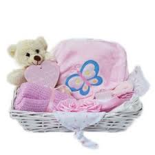 baby pink gift basket her