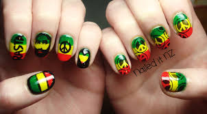 Rasta nails are so hard to do! + get a Born Pretty Store Coupon :)