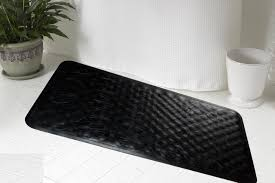 rubber bath tub mat black