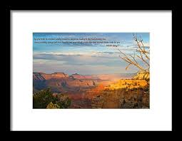 Grand Canyon Quotes Delectable Grand Canyon Splendor With Quote Framed Print By Heidi Smith