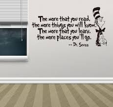 dr seuss the more you read the more things you will know vinyl decal removable wall sticker mural home decor souq uae