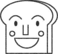 食パンマンのイラストの簡単な書き方