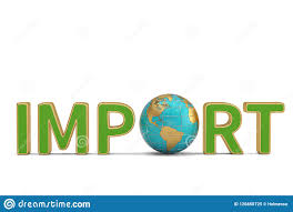 Imports Business Imports Word And Globe Business Trade Global Corporations 3d