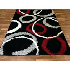 red and black rugs red black and gray area rugs co household pertaining to
