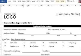 Request Forms Template Sample Request Form For Approval To Hire For Word
