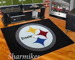 pittsburgh steelers all star area rug mat great for the man cave