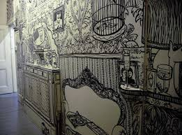 Wall Drawings done with Black Marker