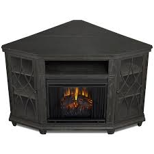 real flame lynette corner indoor ventless electric fireplace in grey hover to zoom