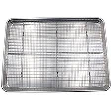 cookie sheet with cooling rack amazon com checkered chef cookie sheet and rack set aluminum half