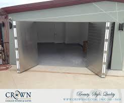 bi fold garage doorsMetal Garage Doors  CrownsGDcom