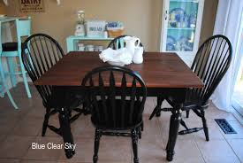 rustic maple farm table painted unfinished wood dining chairs