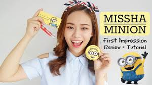 missha minions first impressions makeup tutorial review eng sub you