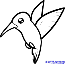 simple hummingbird drawing. Wonderful Drawing Simple Hummingbird Line Drawing How To Draw A Hummingbird For For I