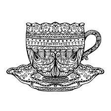 vintage tea cups drawing. Simple Cups Vintage Tea Cup In Tea Cups Drawing P