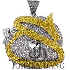 cj 0060 custom diamond turntable with letter s pendant