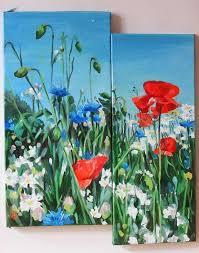 flower painting wild flowers modular work artist kateryna bortsova jose art gallery