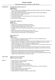 Desk Assistant Sample Resume Desk Assistant Resume Samples Velvet Jobs 16