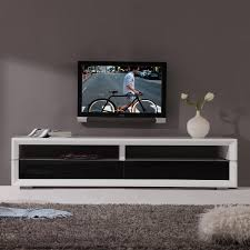 latest bmodern executive remix tv stand in white lacquer w black glass doors with modern black tv stands