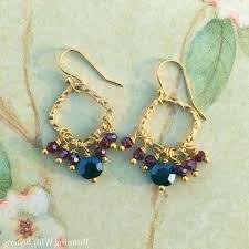 beaded cute chandelier earrings how to make beaded chandelier earrings