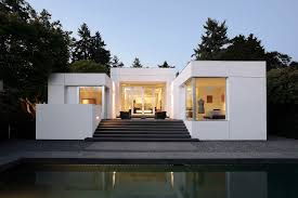 Exterior: Medina Mid Century Modern Homes With White Wall And ...