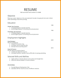 Part Time Job Resume Examples First Time Job Resume Template Resume